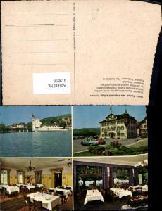 619896,Mehrbild Ak Küssnacht a. Rigi Hotel Seehof Hotel du Lac Seehof Restaurant Innen