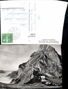 619897,Foto Ak Berggasthaus Holzegg m. Gr. Mythen Rickenbach