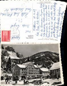 619899,Foto Ak Wildhaus Passhöhe Hotel Sonne Winteransicht Bus Postbus Automobile