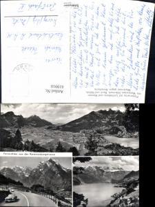 619910,Mehrbild Ak Panorama auf Linthebene u. Weesen a. Walensee Glärnisch Rauti