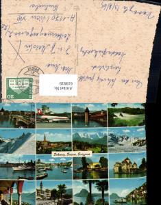 619919,Mehrbild Ak Schweiz Suisse Switzerland Luzern Zürich Flughafen Geneve Gandria
