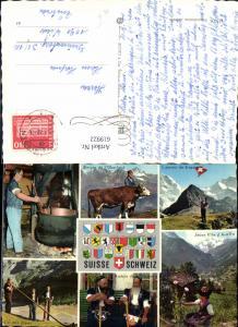 619922,Mehrbild Ak Suisse Schweiz Fromager de Gruyere Barbus de Gruyere Cor des Alpes Tracht Alphorn