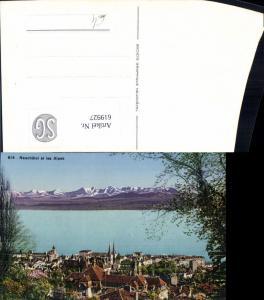 619927,Neuchatel et les Alpes Neuenburg