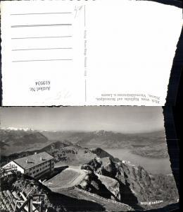 619934,Foto Ak Arth Blick v. Rigikulm auf Berneralpen Pilatus Vierwaldstättersee u. Luzern