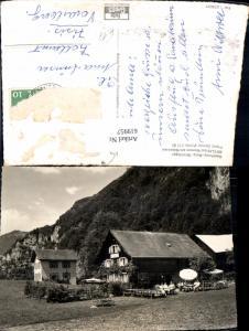 619957,Foto Ak Amden Betlis b. Weesen a. Walensee Gasthaus Burg Strahlegg