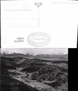 619962,Foto Ak Blick v. Uto-Kulm auf Reppischtal u. Berner Alpen Zürich