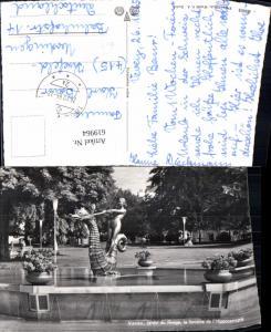 619964,Foto Ak Vevey Jardin du Rivage la fontaine de l Hippocampe Brunnen