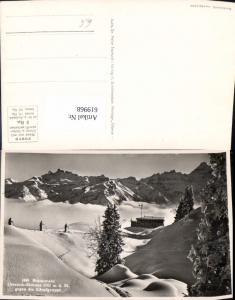 619968,Foto Ak Braunwald Ortstock-Skihaus geg. Kärpfgruppe Wintersport
