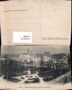 619990,Basel Strassburger-Denkmal m. Neuer Realschule