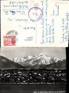 620474,Foto Ak Le Mont Blanc vu de Geneve Genf