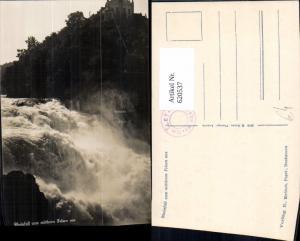 620537,Laufen-Uhwiesen Rheinfall v. Mittleren Felsen aus Schloss Laufen