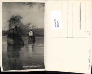 620549,Foto Ak Meggenhorn geg. Pilatus Kreuz auf Insel