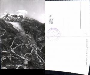 620562,Foto Ak Grimsel-Furka Rhonegletscher Gletsch Obergoms