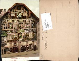 620599,Schaffhausen Haus zum Ritter Kunstvolle Fassade