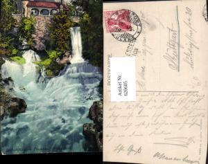 620605,Beatenberg Beatushöhlen a. Thunersee Wasserfälle Wasserfall Stempel Station Beatenberg