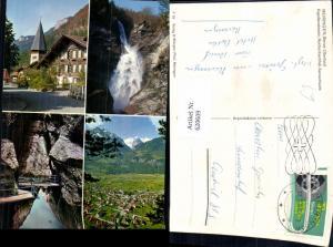 620609,Mehrbild Ak Meiringen Berner Oberland Kapellenstrasse Reichenbachfall Aareschlucht
