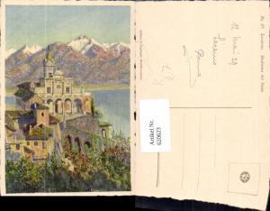 620623,Künstler Ak E. Zuppinger Muralto-Locarno Locarno Madonna del Sasso