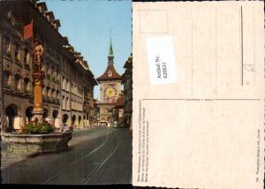 620631,Bern Marktgasse Schütenbrunnen Zeitglockenturm Berne