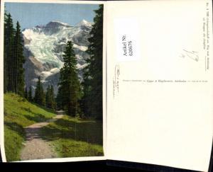 620676,Foto Ak Gebirgslandschaft Weg n. Mettlenalp ob Wengen m. Jungfrau