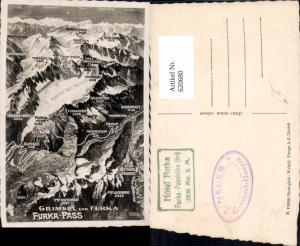 620680,Lagekarte Grimsel u. Furka Furkapass Gletsch Obergoms