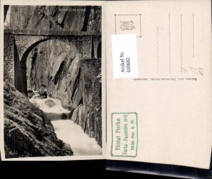 620682,Foto Ak Schöllenenschlucht Schöllenen Brücke Göschenen