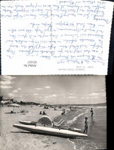 621227,Foto Ak Carnon-Plage Herault La Plage Strand Strandleben Trettboot Boot France