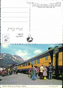 621886,Alaska Railroad at Portage Eisenbahn Bahnlinie Alaska