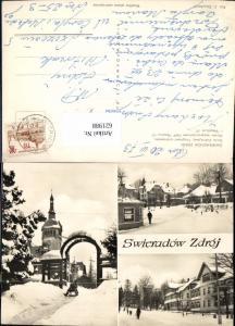621988,Mehrbild Ak Bad Flinsberg Swieradow Zdroj Dom Zdrojowy Fragment uzdrowiska Dom Winter Poland