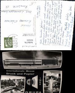 623233,Mehrbild Ak Düsseldorf Messe-Gelände Int. Messe Druck u. Papier Drupa 1962