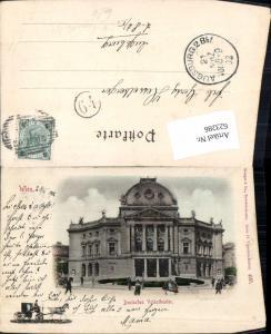 623286,Wien Neubau Deutsches Volkstheater Ser. Vignetten Karten 4537 Stengel & Co.