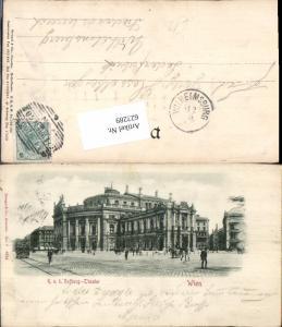 623289,Reliefkarte Präge-AK Wien K.K. Hofburg Theater pub Stengel & Co.