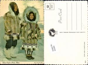 623302,Eskimo Inuit couple beautiful parkas Alaska