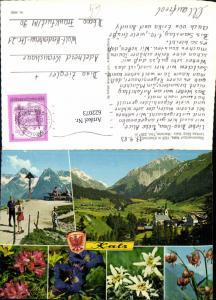 622073,Mehrbild Ak Kals am Großglockner Matreier Törl Alpenflora Wegkreuz