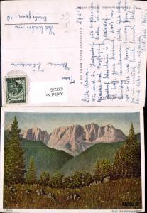 622235,Künstler Ak E. Gorlo Tirol Das Kaisergebirge Kufstein pub Hansa 8916