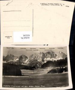 622236,Foto Ak Kitzbühel Schwarzsee m. d. Wilden Kaiser