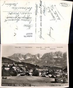 622237,Foto Ak Kitzbühel m. d. Wilden Kaiser Gipfelkarte