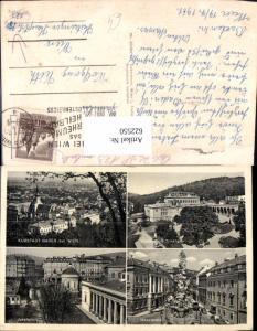 622550,Mehrbild Ak Baden b. Wien Kurhaus u. Trinkhalle Hauptplatz Josefsplatz