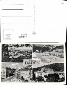 622557,Mehrbild Ak Baden b. Wien Thermalstrandbad Kur Kasino Hauptplatz