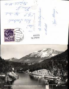 622559,Foto Ak Mariazellerbahn Stauwerk Erlaufklause m. Ötscher Mitterbach am Erlaufsee