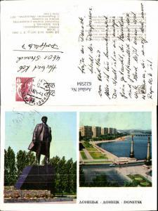 622584,Mehrbild Ak Donetsk Denkmal Lenin Ukraine
