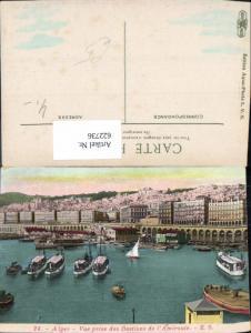 622736,Algier Alger Vue prise des Bastions de l Amiraute Hafen Schiffe Boote Algerien