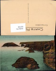 622748,Belle-Isle-en-Mer Rochers prise au dessus de la Grotte de l Apothicairerie France
