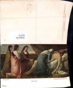 622772,Künstler Ak A. Feuerbach Pieta Grablegung Jesus Religion