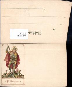 622775,Künstler Litho Heiliger Georg Drache Drachentöter Religion