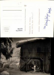622789,Foto Ak Krippe Jesus Bethlehem Kindlein im Stall Religion