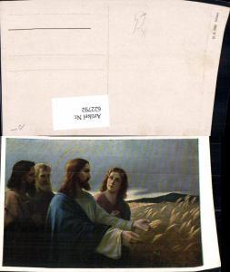 622792,Künstler Ak Jesus m. Jünger Getreide Ähre Heiligenschein Religion