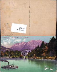 622837,Sankt Gilgen Waldhotel Kreuzstein Mondsee Schiff Dampfer pub F. E. Brandt 473