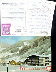 623586,Schoppernau Bregenzerwald Hotel Restaurant Cafe Edelweiss Winteransicht