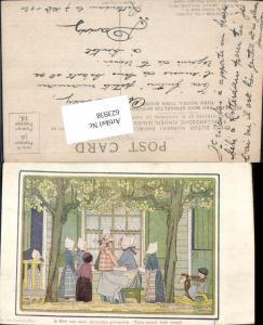 623938,Künstler AK Hildegard Willebeek Le Mair Kinder Schaukelpferd