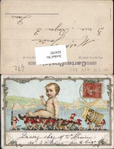624192,Reklame Lithographie Nestle Produkt Kinder Zwerge 1916